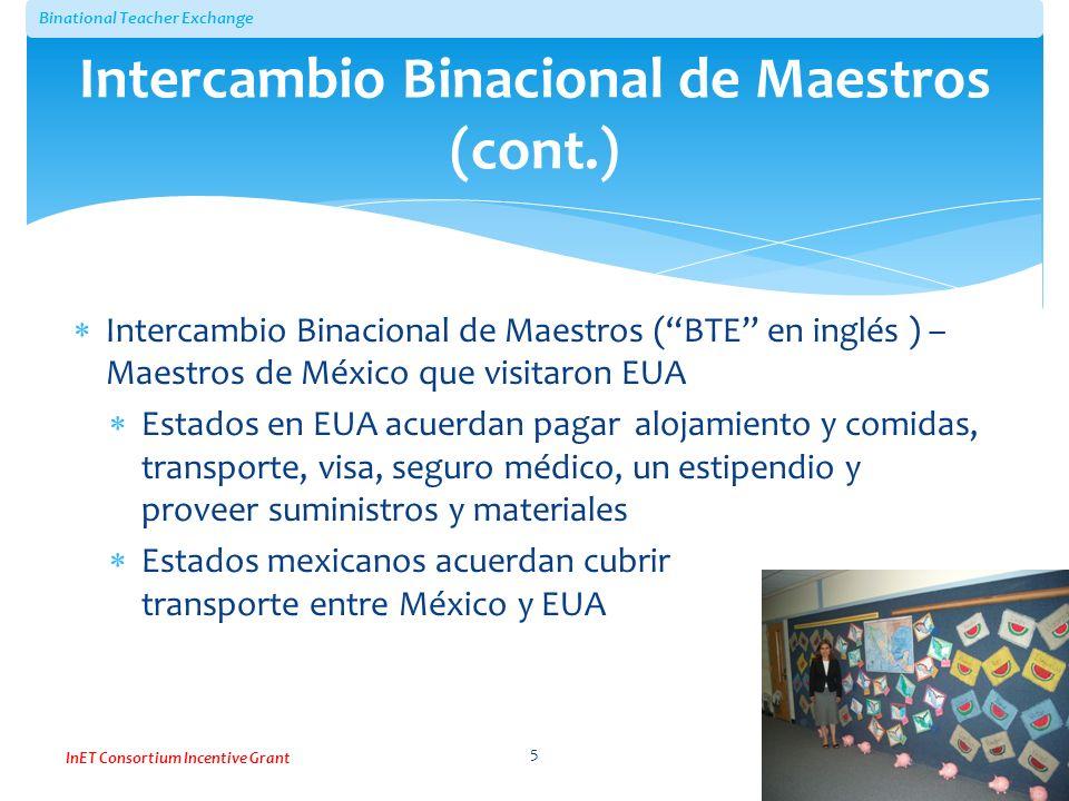 Intercambio Binacional de Maestros (cont.)