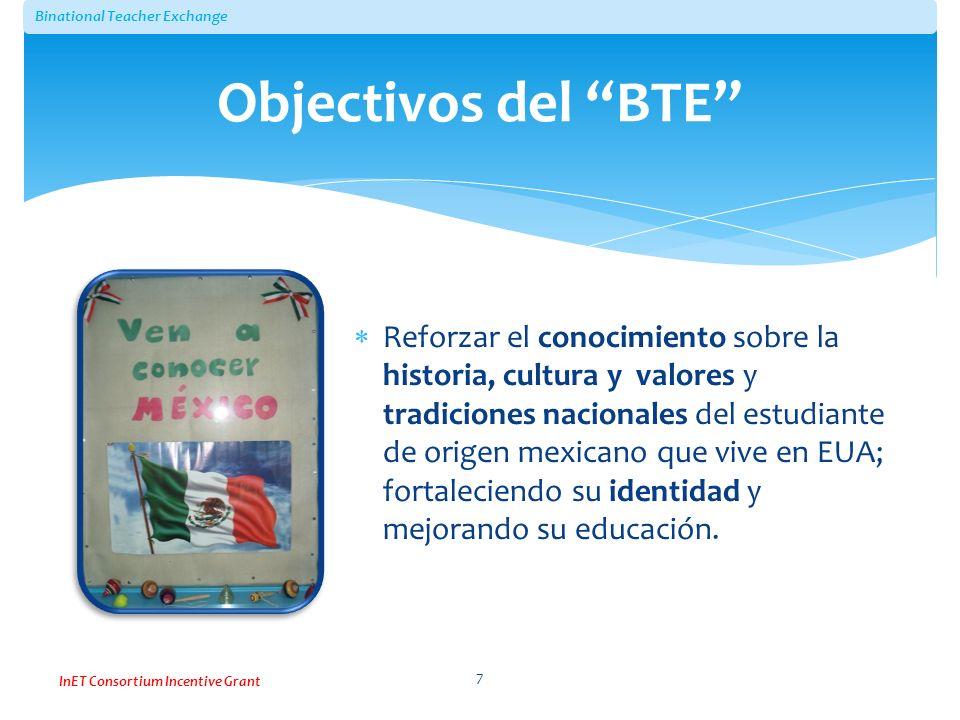 Objectivos del BTE