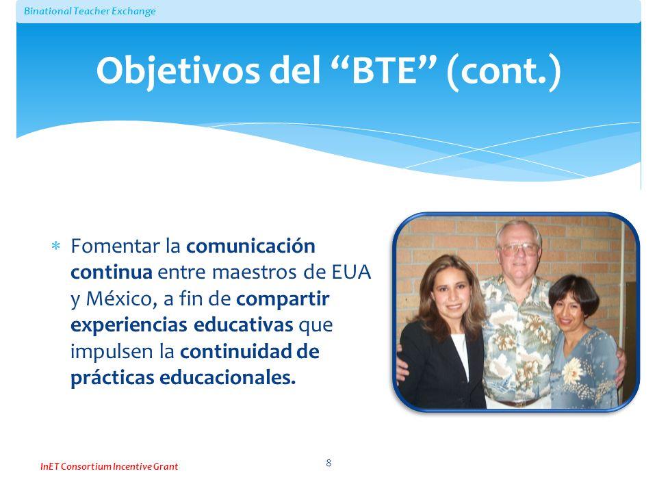 Objetivos del BTE (cont.)