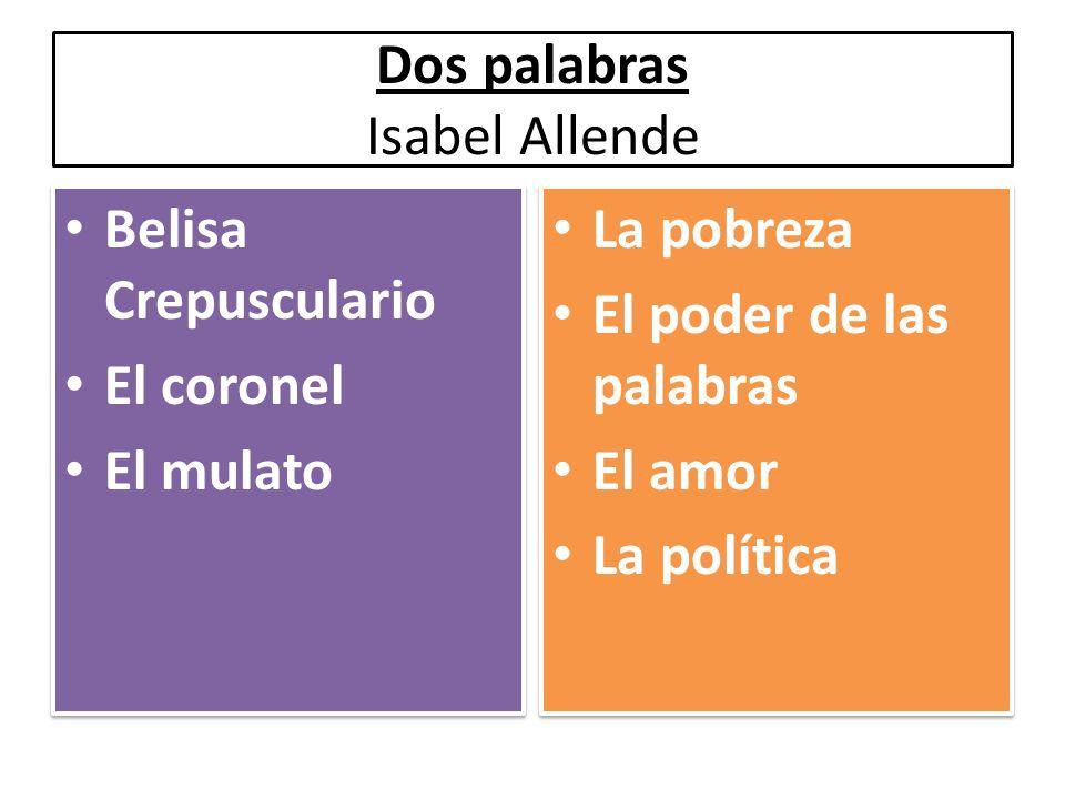 Dos palabras Isabel Allende