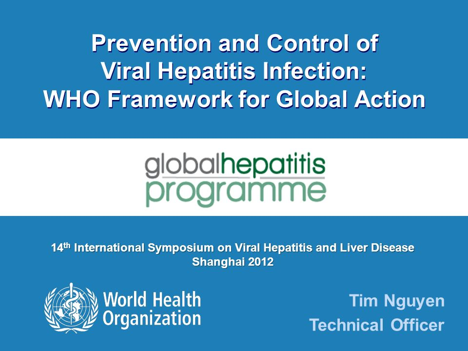 Prevention and Control of Viral Hepatitis Infection: