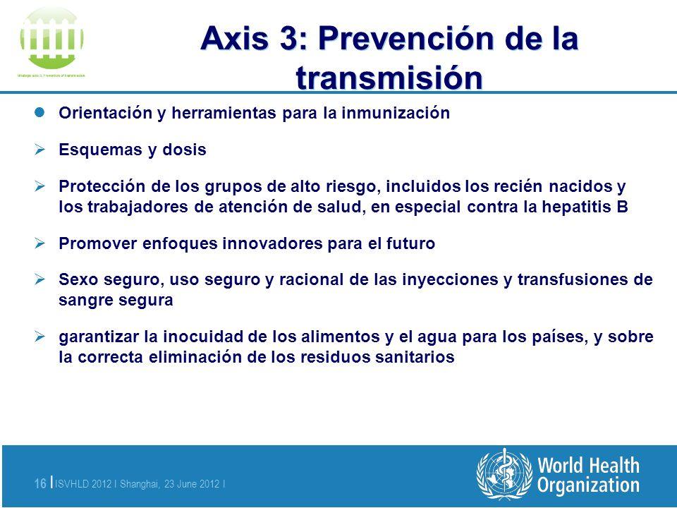 Axis 3: Prevención de la transmisión