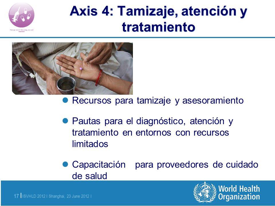 Axis 4: Tamizaje, atención y tratamiento