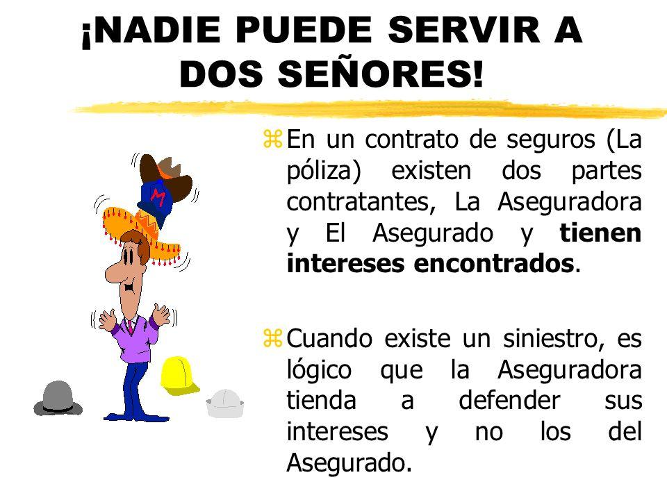 ¡NADIE PUEDE SERVIR A DOS SEÑORES!