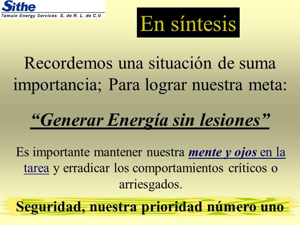 En síntesis Generar Energía sin lesiones