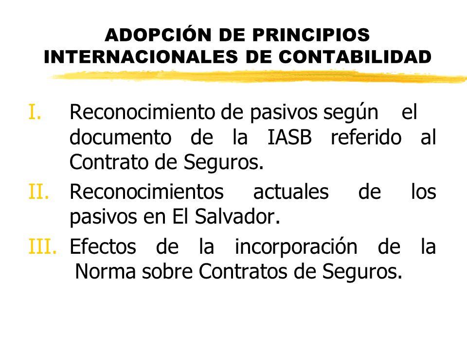ADOPCIÓN DE PRINCIPIOS INTERNACIONALES DE CONTABILIDAD