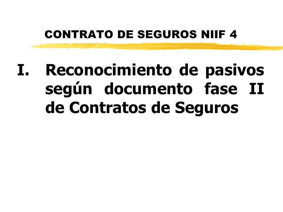 CONTRATO DE SEGUROS NIIF 4
