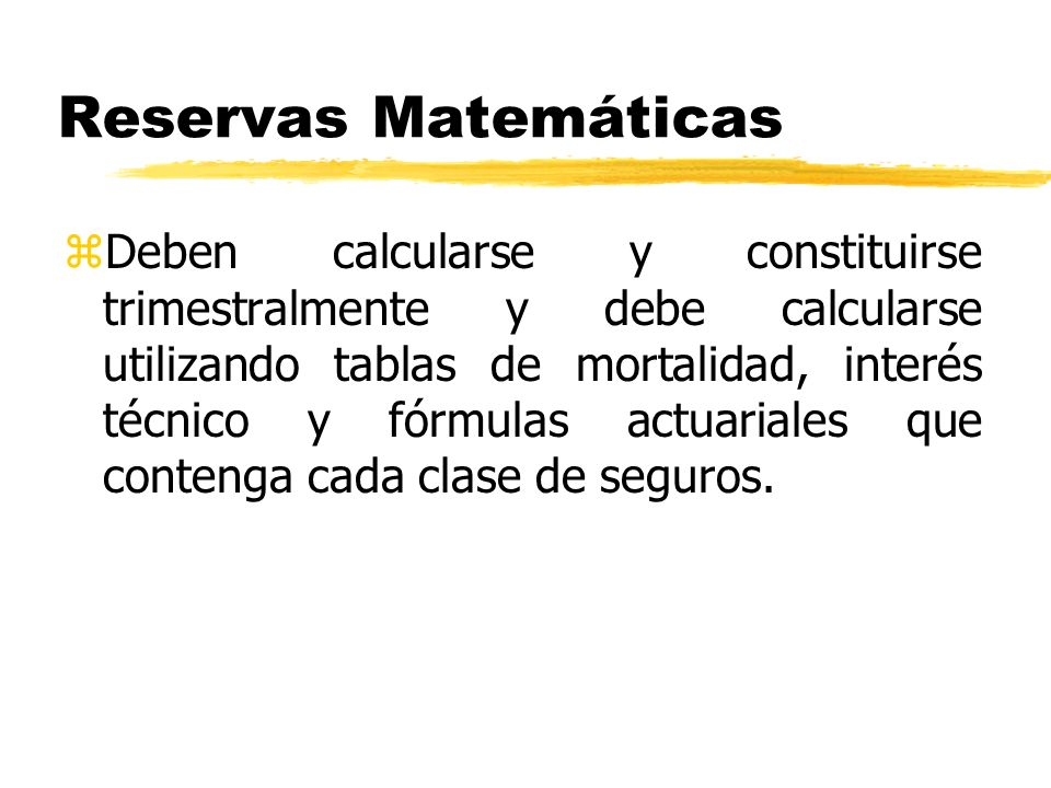 Reservas Matemáticas