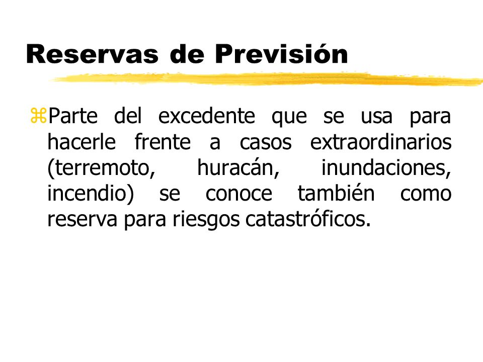 Reservas de Previsión