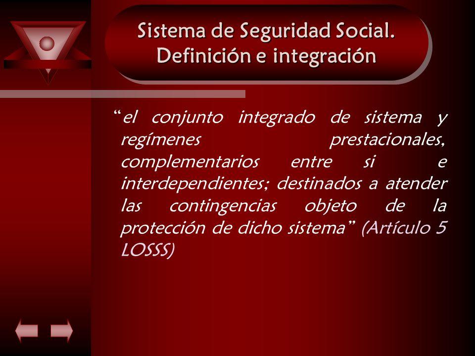 Sistema de Seguridad Social. Definición e integración