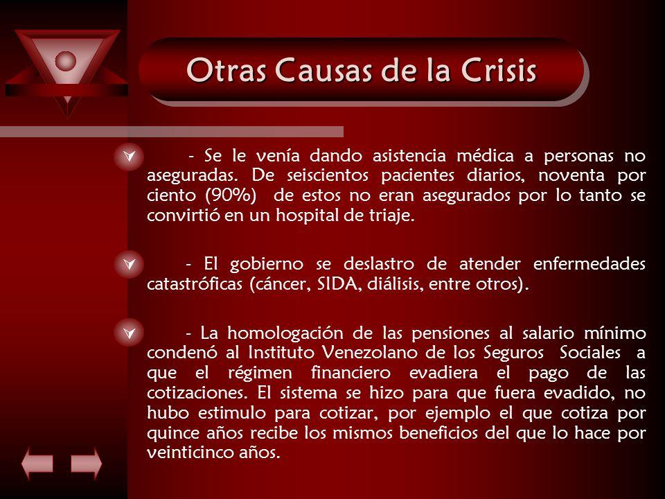 Otras Causas de la Crisis