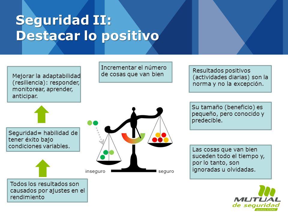 Seguridad II: Destacar lo positivo
