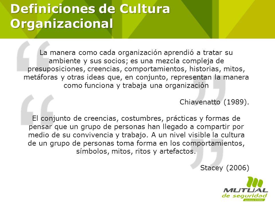 Definiciones de Cultura Organizacional