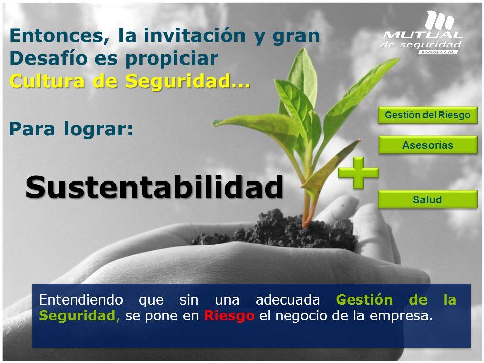 Sustentabilidad Entonces, la invitación y gran Desafío es propiciar
