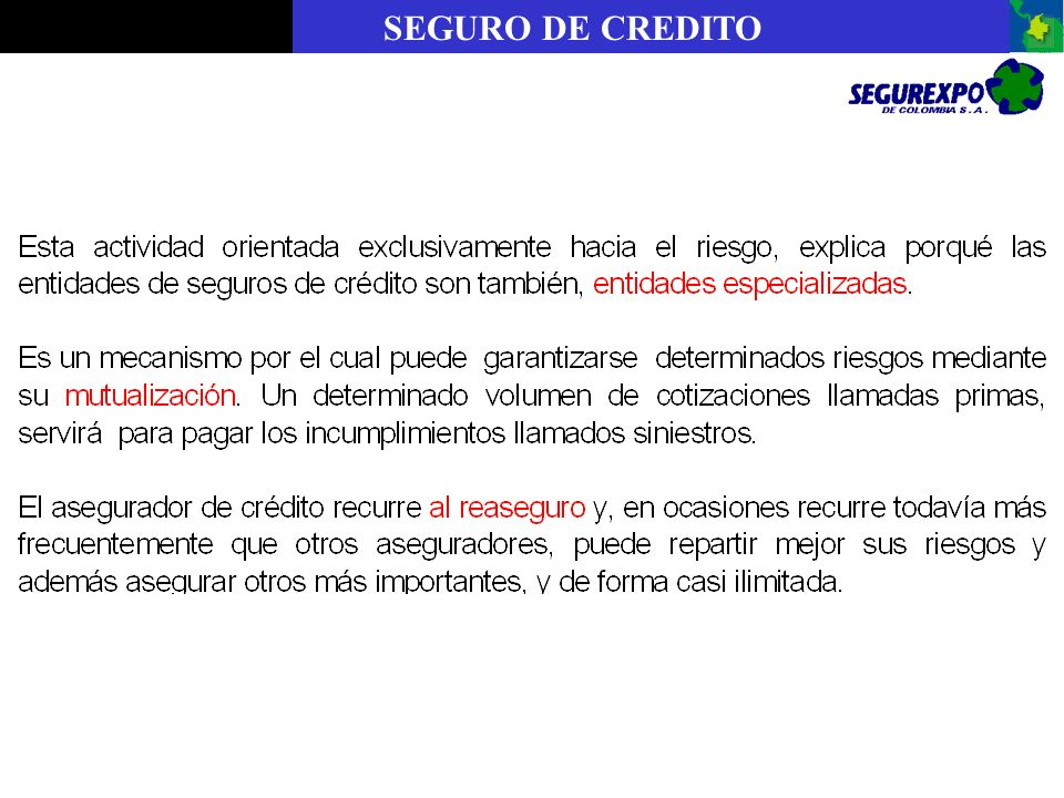 SEGURO DE CREDITO
