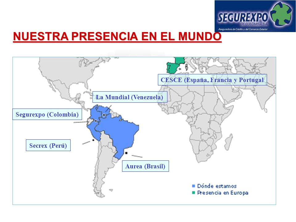 CESCE (España, Francia y Portugal La Mundial (Venezuela)