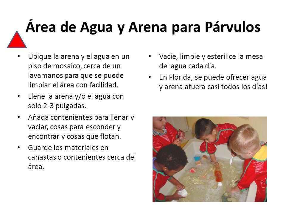 Área de Agua y Arena para Párvulos