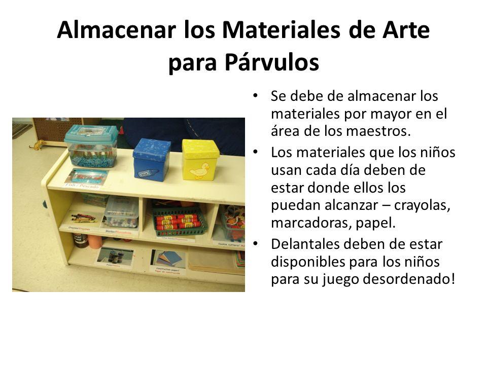 Almacenar los Materiales de Arte para Párvulos
