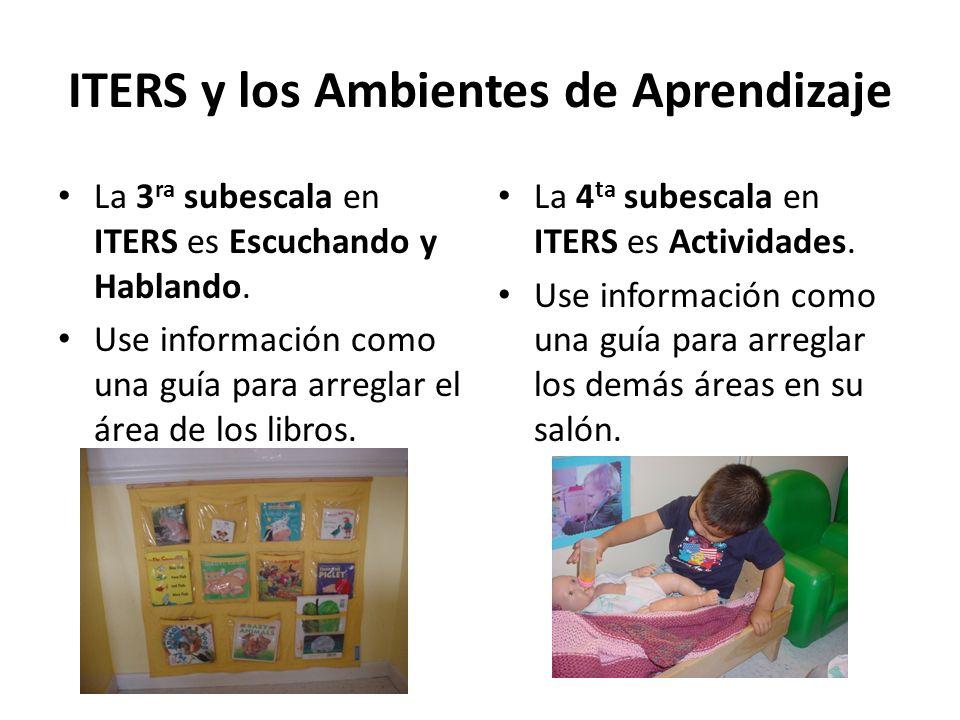 ITERS y los Ambientes de Aprendizaje
