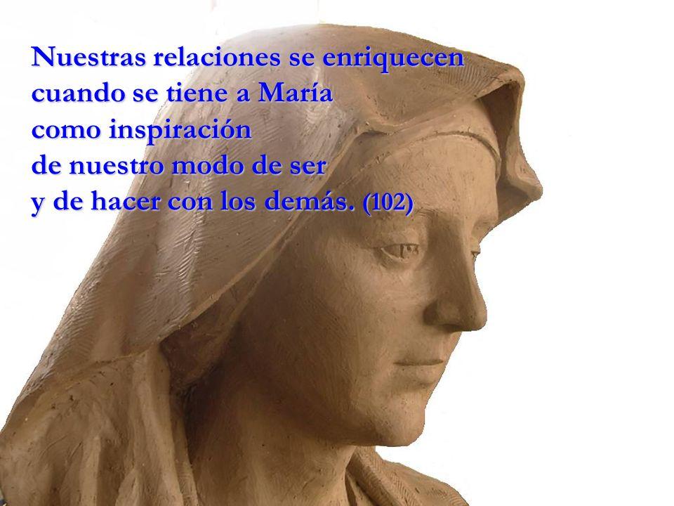 Nuestras relaciones se enriquecen cuando se tiene a María como inspiración de nuestro modo de ser y de hacer con los demás.
