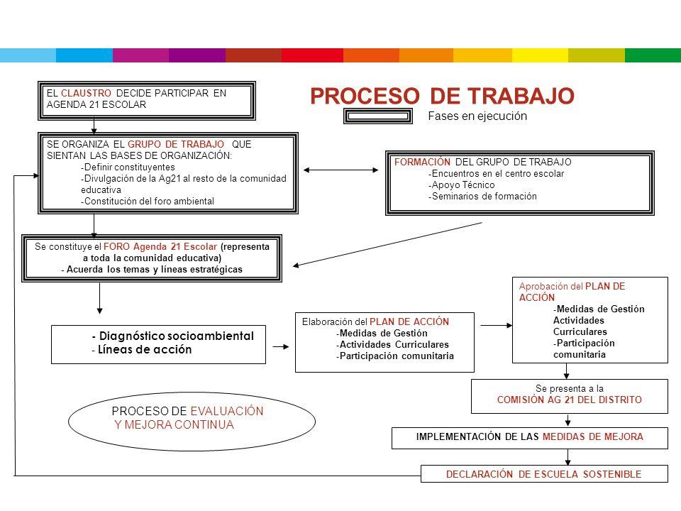 PROCESO DE TRABAJO Fases en ejecución - Diagnóstico socioambiental