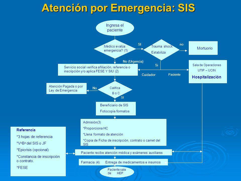 Atención por Emergencia: SIS