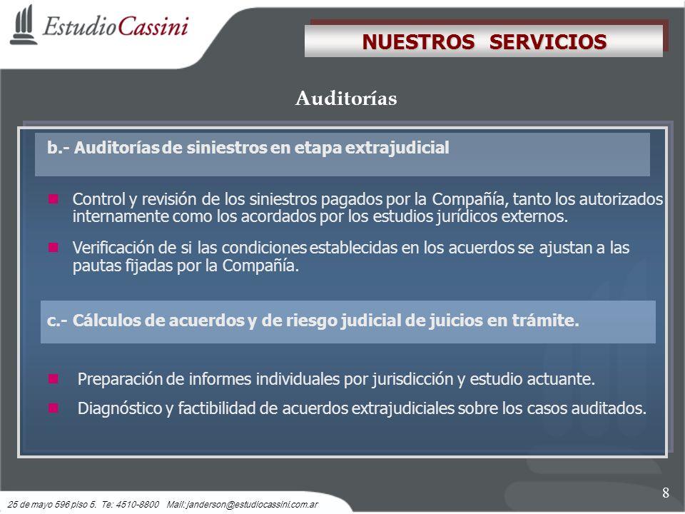 NUESTROS SERVICIOS Auditorías