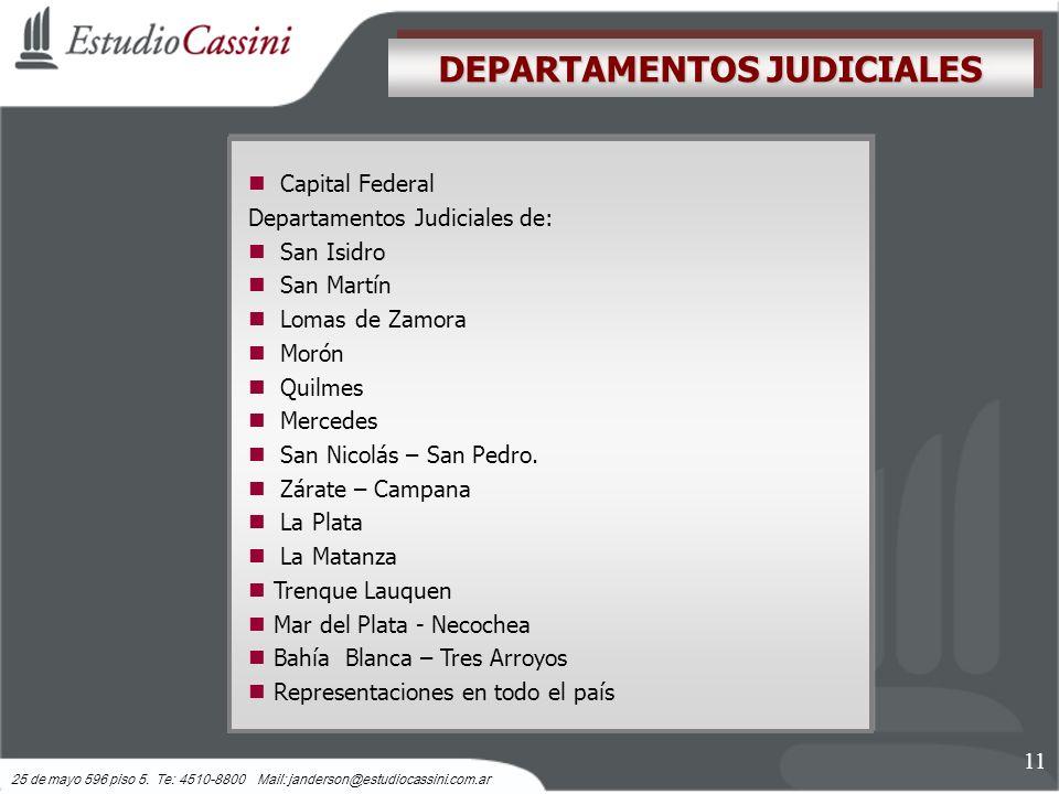 DEPARTAMENTOS JUDICIALES
