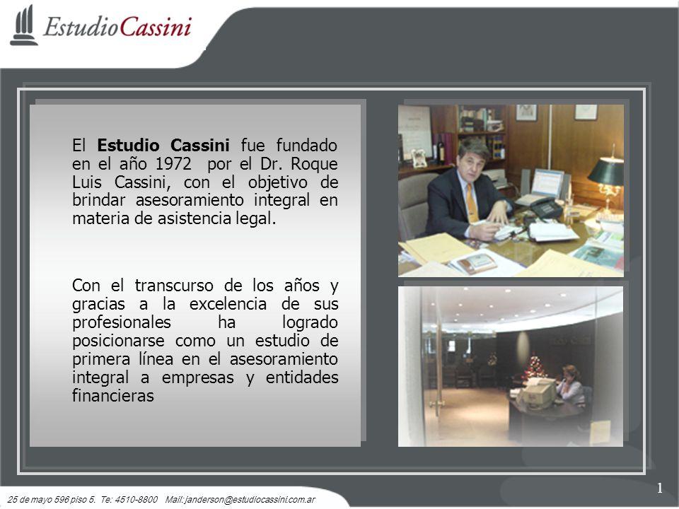 El Estudio Cassini fue fundado en el año 1972 por el Dr