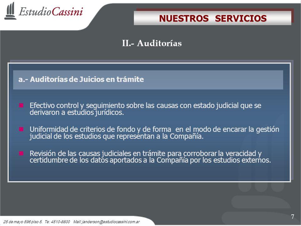NUESTROS SERVICIOS II.- Auditorías