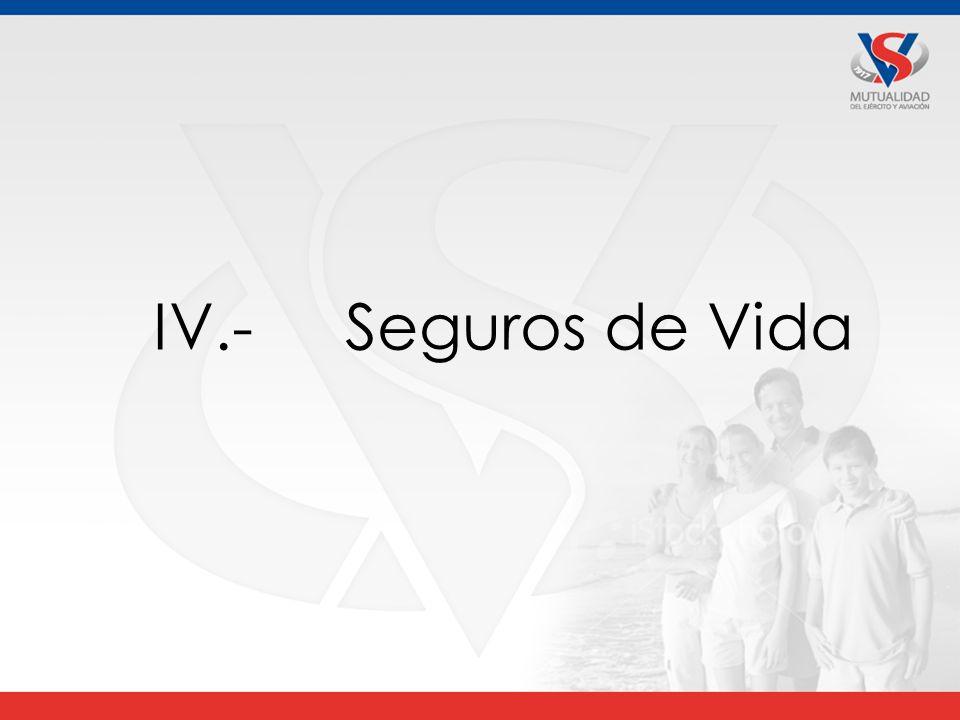 IV.- Seguros de Vida