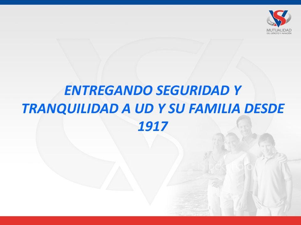 ENTREGANDO SEGURIDAD Y TRANQUILIDAD A UD Y SU FAMILIA DESDE 1917
