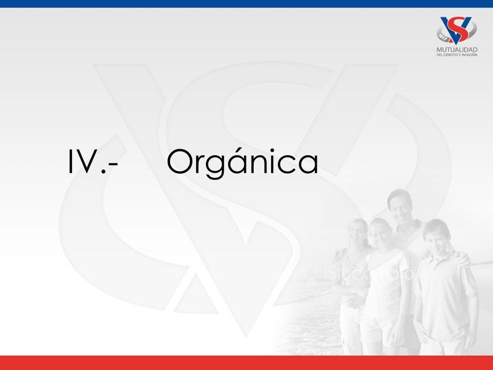 IV.- Orgánica