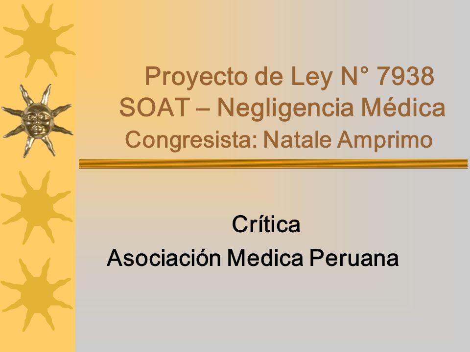 Crítica Asociación Medica Peruana