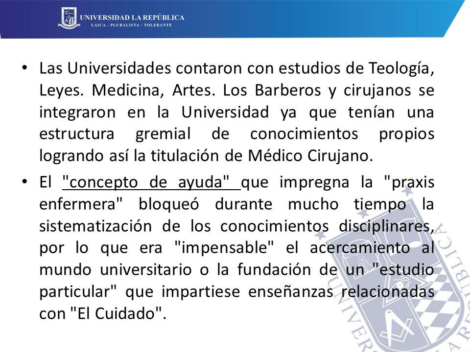 Las Universidades contaron con estudios de Teología, Leyes