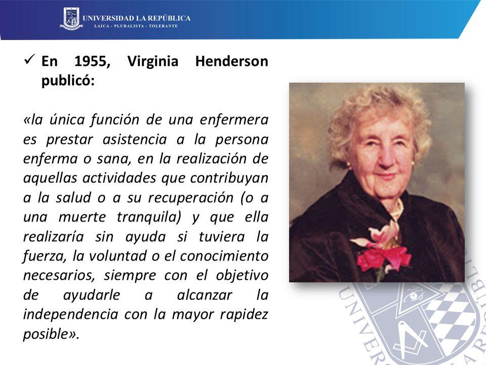 En 1955, Virginia Henderson publicó:
