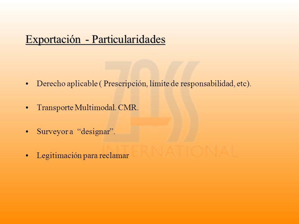 Exportación - Particularidades