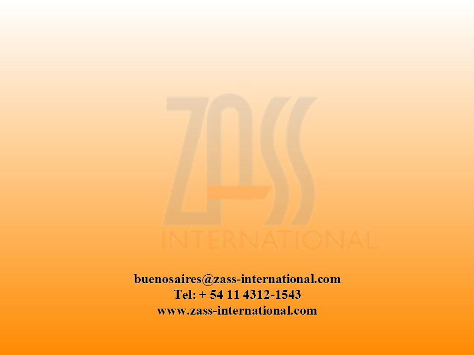 buenosaires@zass-international. com Tel: + 54 11 4312-1543 www