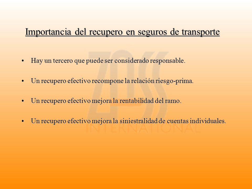 Importancia del recupero en seguros de transporte