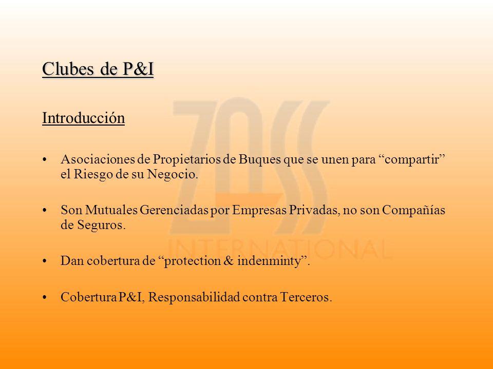 Clubes de P&I Introducción