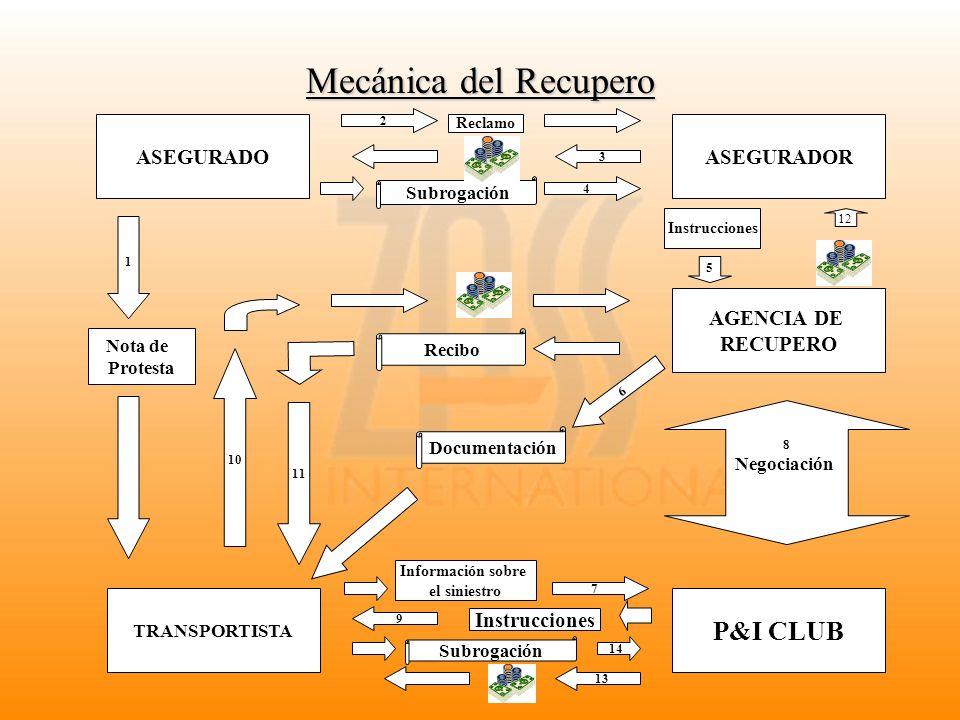 Mecánica del Recupero P&I CLUB ASEGURADO ASEGURADOR AGENCIA DE