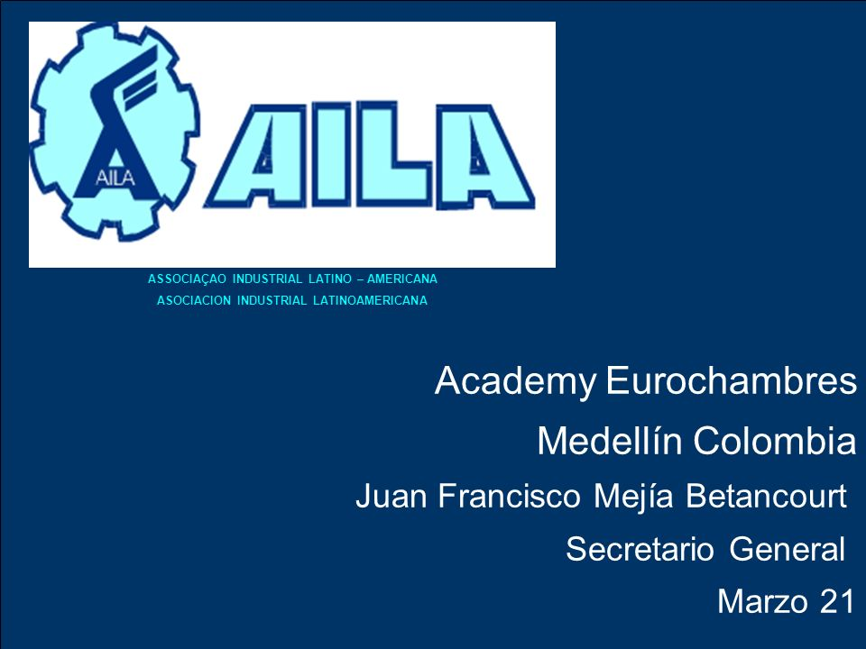 Academy Eurochambres Medellín Colombia Juan Francisco Mejía Betancourt