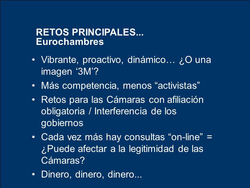 RETOS PRINCIPALES... Eurochambres