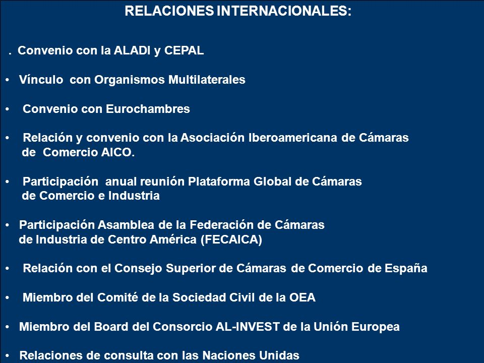 RELACIONES INTERNACIONALES: