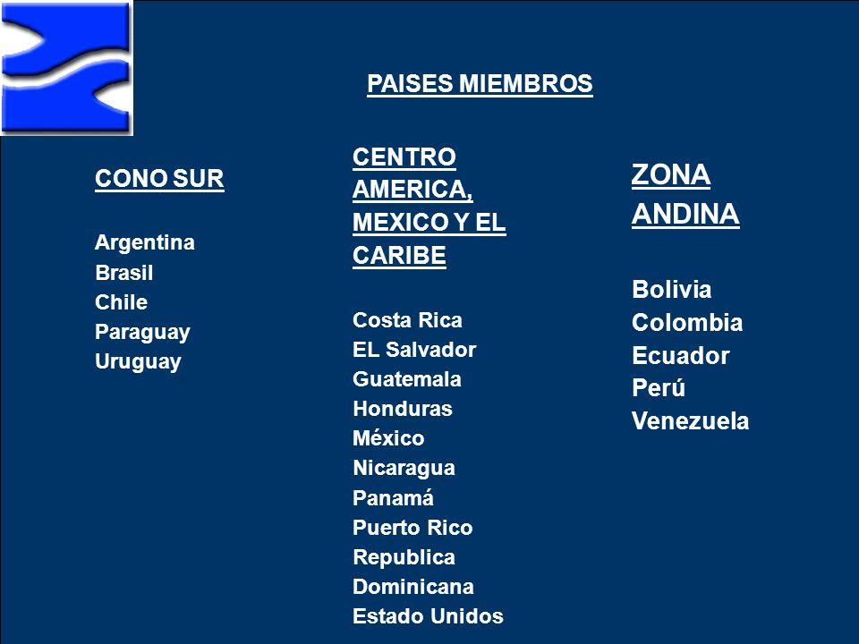 ZONA ANDINA PAISES MIEMBROS CENTRO AMERICA, MEXICO Y EL CARIBE