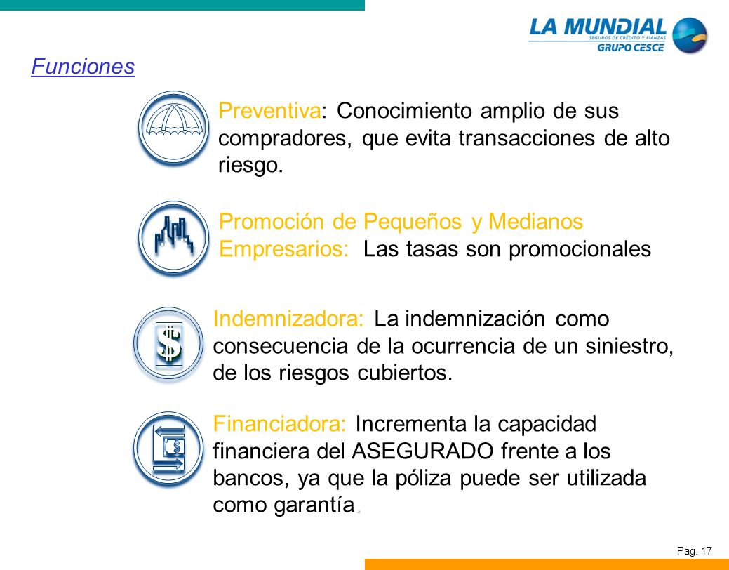 Funciones Preventiva: Conocimiento amplio de sus compradores, que evita transacciones de alto riesgo.