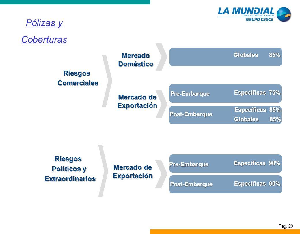 Pólizas y Coberturas Mercado Doméstico Riesgos Comerciales Mercado de