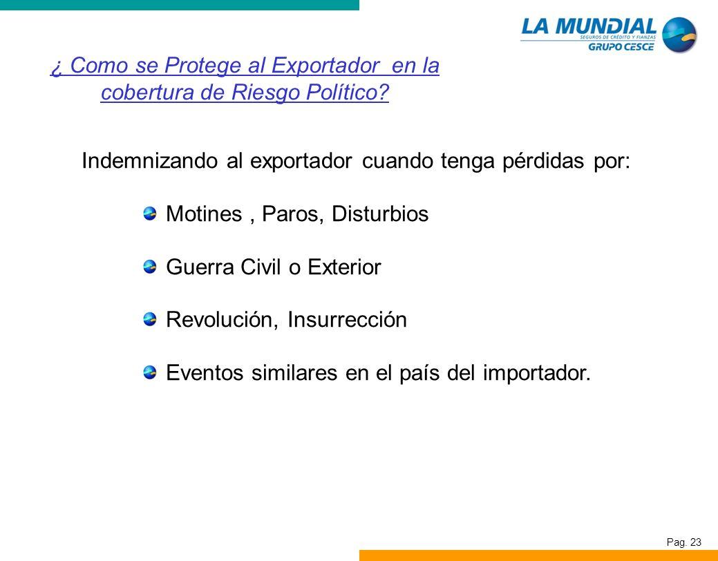 ¿ Como se Protege al Exportador en la cobertura de Riesgo Político