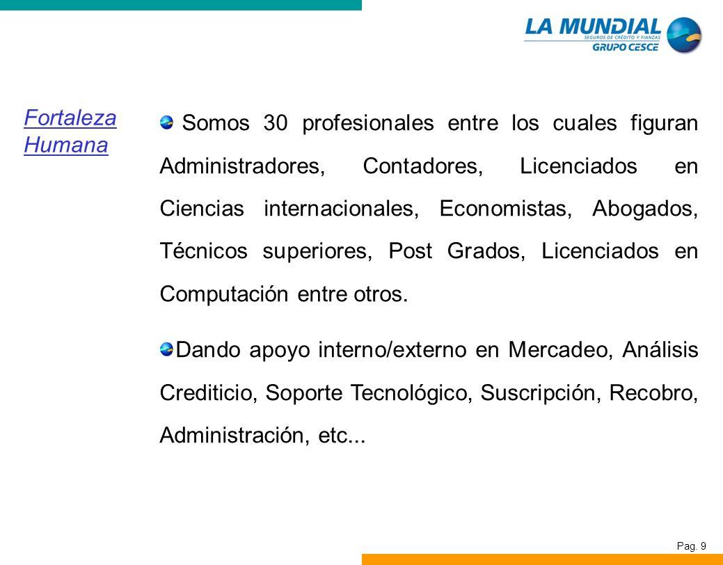 Somos 30 profesionales entre los cuales figuran Administradores, Contadores, Licenciados en Ciencias internacionales, Economistas, Abogados, Técnicos superiores, Post Grados, Licenciados en Computación entre otros.