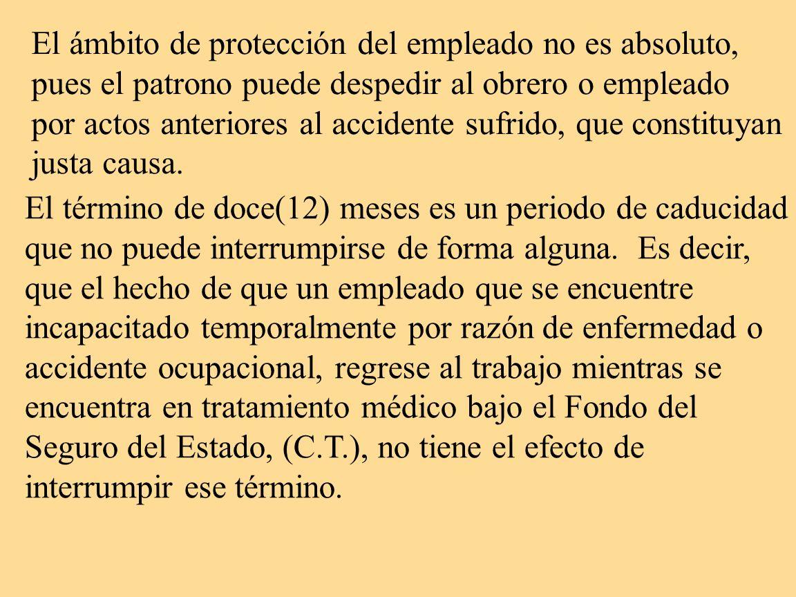 El ámbito de protección del empleado no es absoluto,